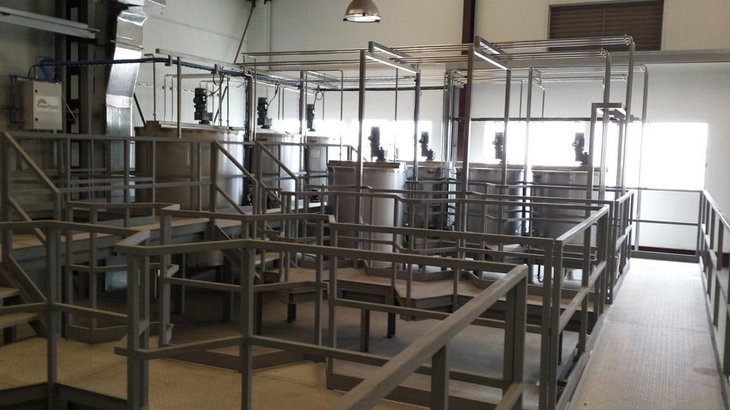 instalacion fabricacion tintas