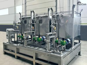 Dosing skid for the petrochemical sector
