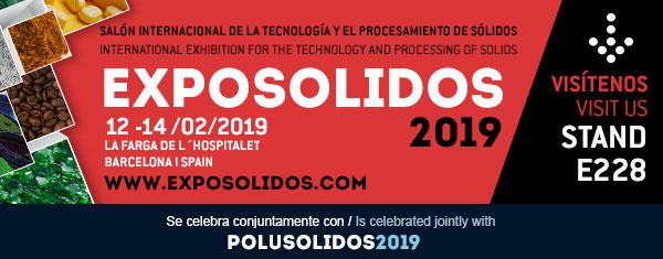 Exposólidos 2019: Feria sobre tecnología y proceso de productos sólidos