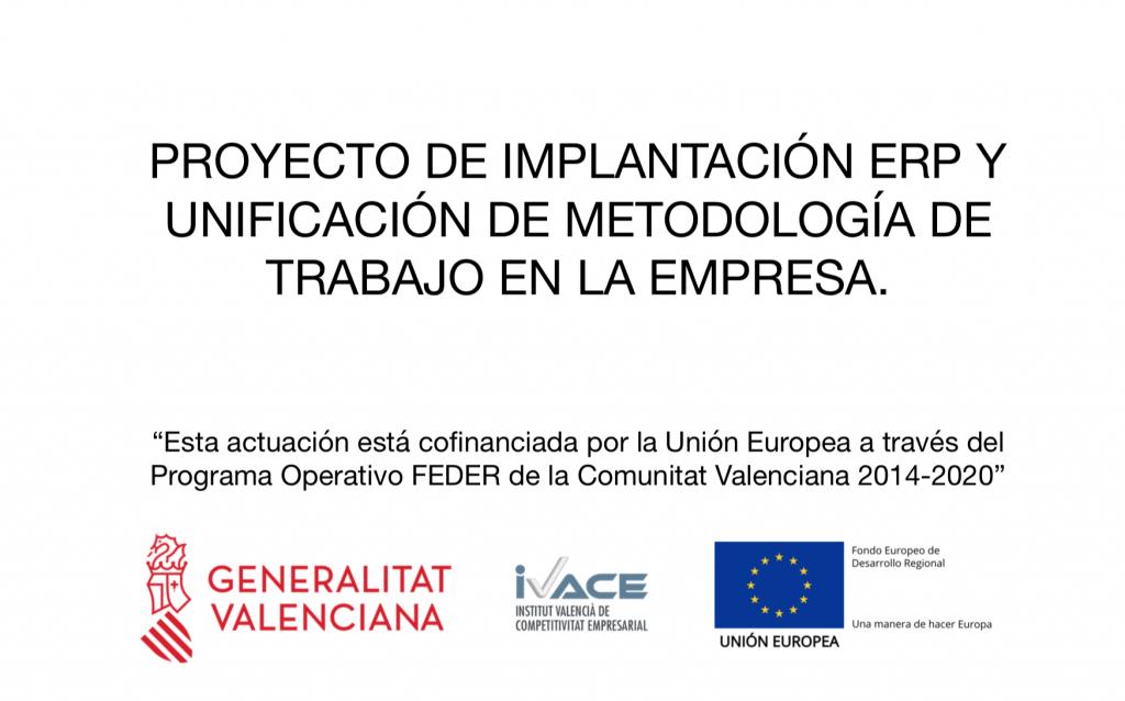 proyecto implantación ERP y unificación metodología trabajo